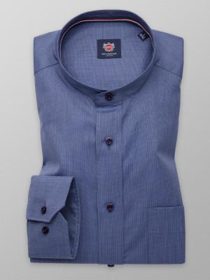 Niebieska klasyczna koszula ze stójką