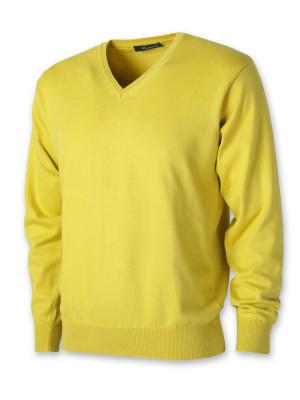 Żółty sweter szpic