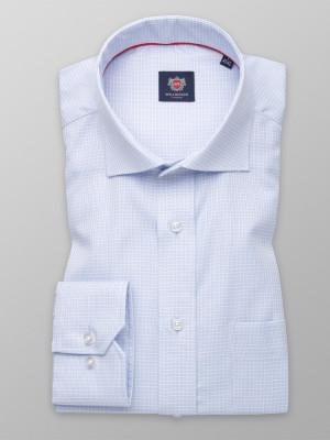 Jasnobłękitna klasyczna koszula w kratkę