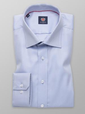 Niebieska taliowana koszula w prążek