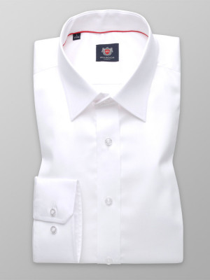 Biała gładka taliowana koszula
