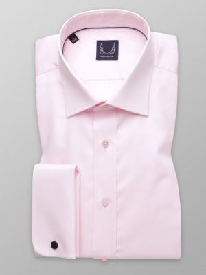 Jasnoróżowa klasyczna koszula na spinki