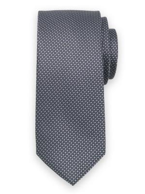 Szary krawat w drobną kratkę