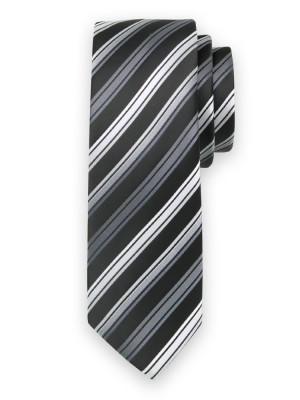 Klasyczny czarny krawat w paski