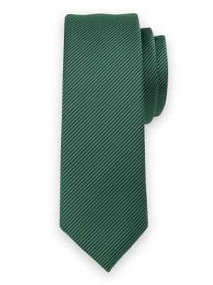 Zielony krawat w czarny prążek