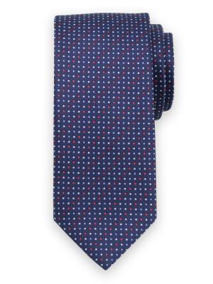 Granatowy krawat w kropki