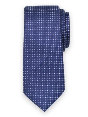 Granatowy krawat w kratkę