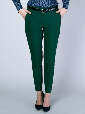 Zielone spodnie garniturowe typu long size