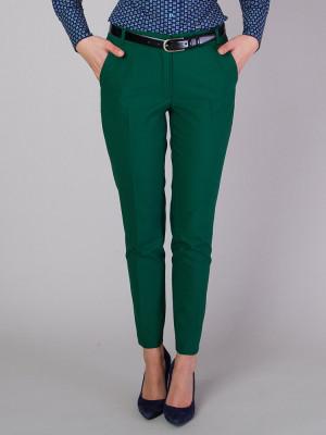 Zielone spodnie garniturowe