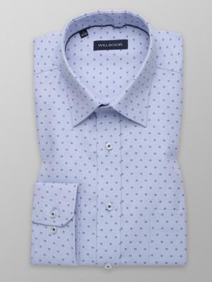 Błękitna klasyczna koszula w kropki