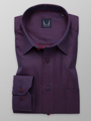 Granatowo-czerwona klasyczna koszula