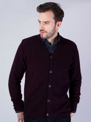Bordowy sweter rozpinany