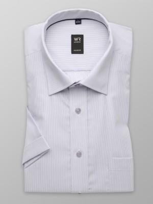 Jasnoszara klasyczna koszula w prążek