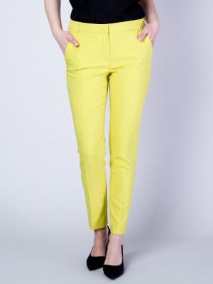 Limonkowe spodnie garniturowe