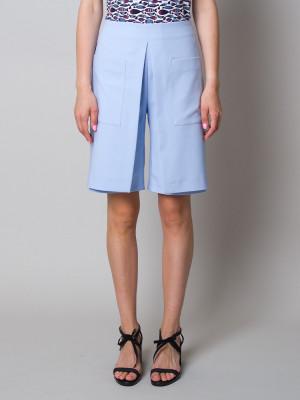 Krótkie błękitne spodenki damskie