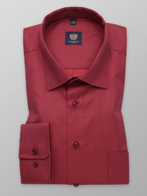 Czerwona taliowana koszula