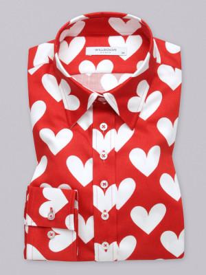 Czerwona bluzka w serca