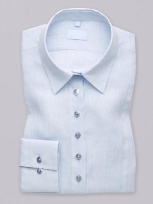 Jasnobłękitna bluzka lniana