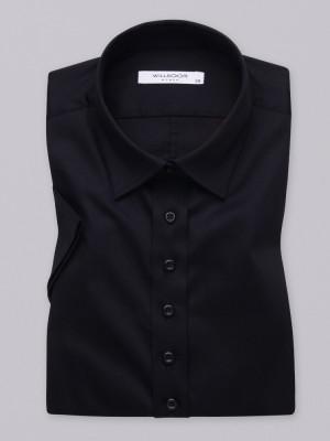 Czarna bluzka damska z krótkim rękawem