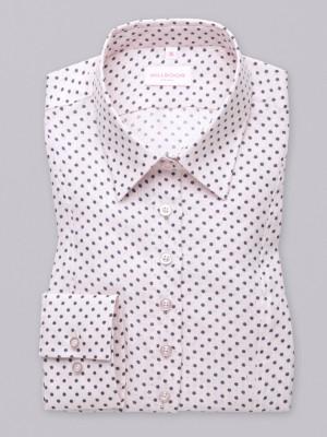 Różowa bluzka lniana w granatowe gwiazdki