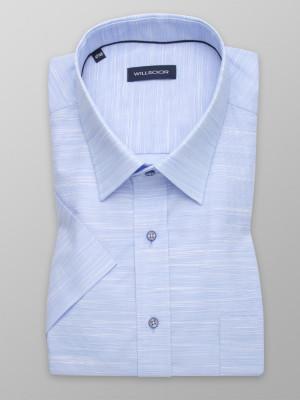 Błękitna klasyczna koszula w prążek