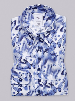 Biała bluzka w niebieskie motyle