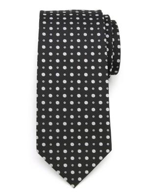 Klasyczny czarny krawat w groszki
