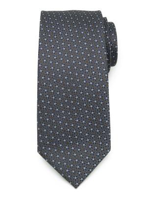 Klasyczny brązowy krawat w kwiaty
