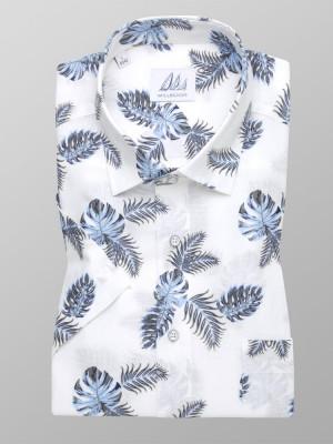 Biała klasyczna koszula w liście