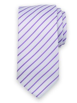 Klasyczny jasnobłękitny krawat w paski