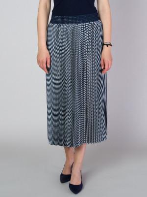 Długa spódnica plisowana w paski