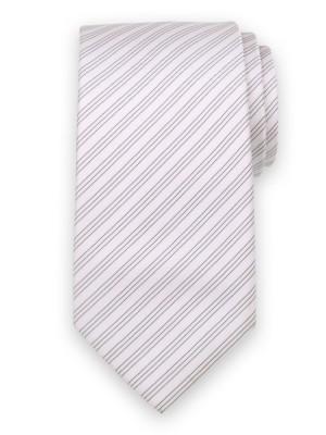 Klasyczny jasnoróżowy krawat w prążki