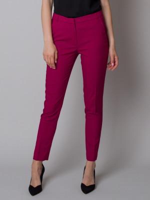 Spodnie garniturowe w kolorze fuksji