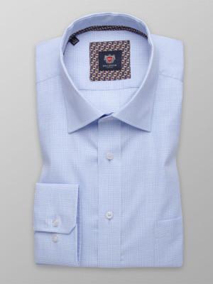 Błękitna klasyczna koszula w kratę Księcia Walii