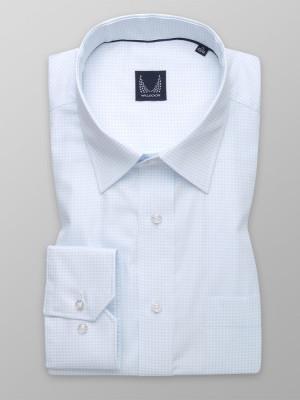 Jasnobłękitna klasyczna koszula w pepitkę