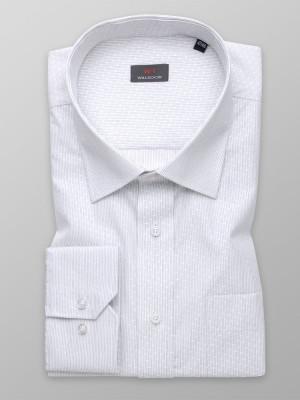Klasyczna biała koszula w prążki