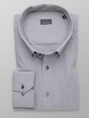 Klasyczna szara koszula w gwiazdki
