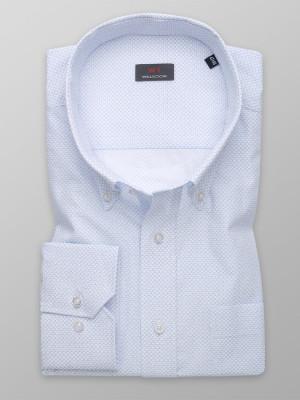 Klasyczna biała koszula w błękitny wzór
