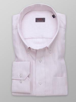 Różowa klasyczna koszula w prążki