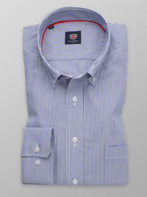 Niebieska klasyczna koszula w prążki