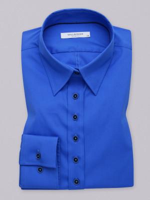 Niebieska gładka bluzka