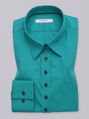 Zielona gładka bluzka
