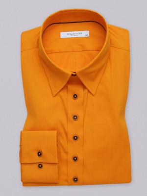 Pomarańczowa gładka bluzka