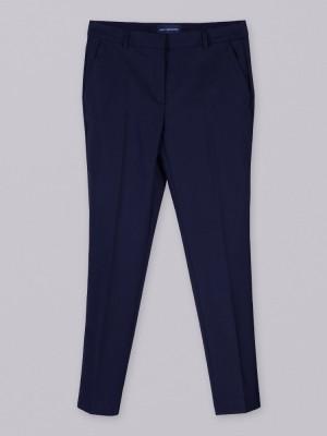Ciemnogranatowe spodnie garniturowe