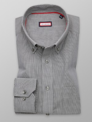 Szara klasyczna koszula w drobną kratkę