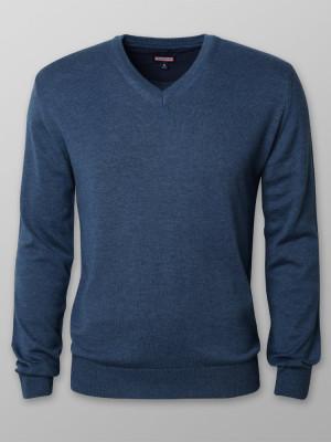 Granatowy gładki sweter