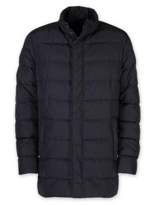 Ciemnogranatowa puchowa kurtka pikowana