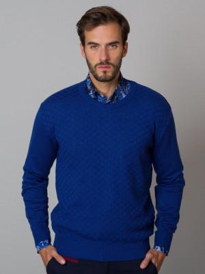 Granatowy sweter