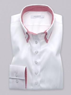 Biała bluzka z kontrastami