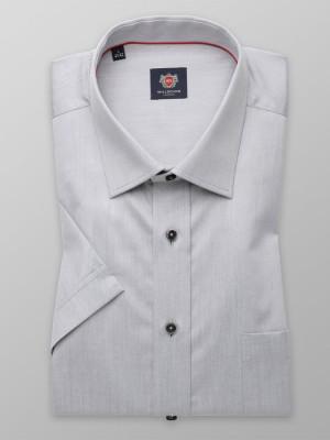 Szara gładka klasyczna koszula